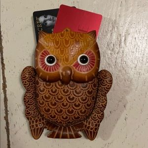 NWOT, Etched Leather Owl Coinpurse 🦉